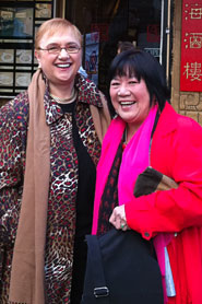 RtoL Shirley Fong-Torres and Lidia Bastianich - Lidia Celebrates America - Photo courtesy PBS