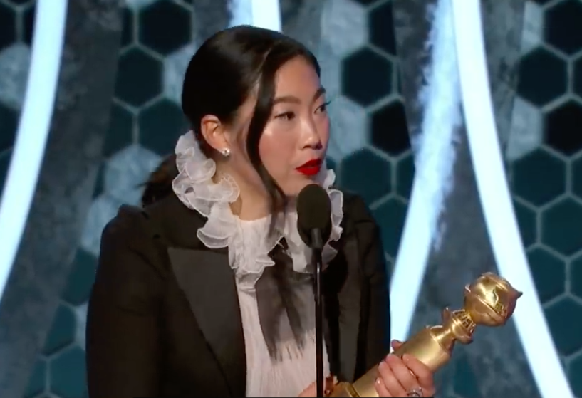 Awkwafina Wins Golden Globe! Best Performance by an Actress in a Motion Picture - Musical or Comedy!