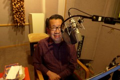 Ben Fong-Torres narrates his Audible Book The Rice Room  - Photo by David Nelson, Outpost Studios, SF