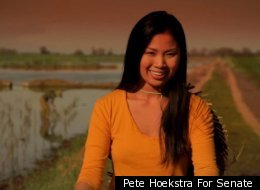 New Asian American super PAC fights GOP Senate candidate Pete Hoekstra's controversial ad. Actress Lisa Chan apologizes.