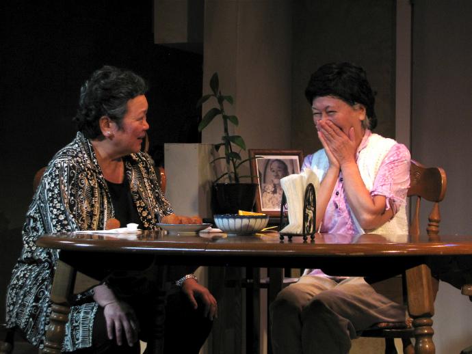 Photo Credit Sammie Choy - Karen Yamamoto Hackler and Dian Kobayashi in Daniel Akiyama's A Cage of Fireflies