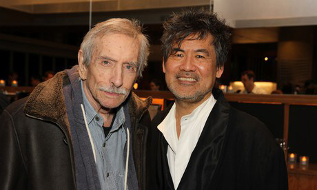 Playwrights Edward Albee and David Henry Hwang Photo by Lia Chang