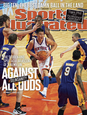 Sports Illustrated Cover Guy New York Knicks Starting Point Guard Jeremy Lin